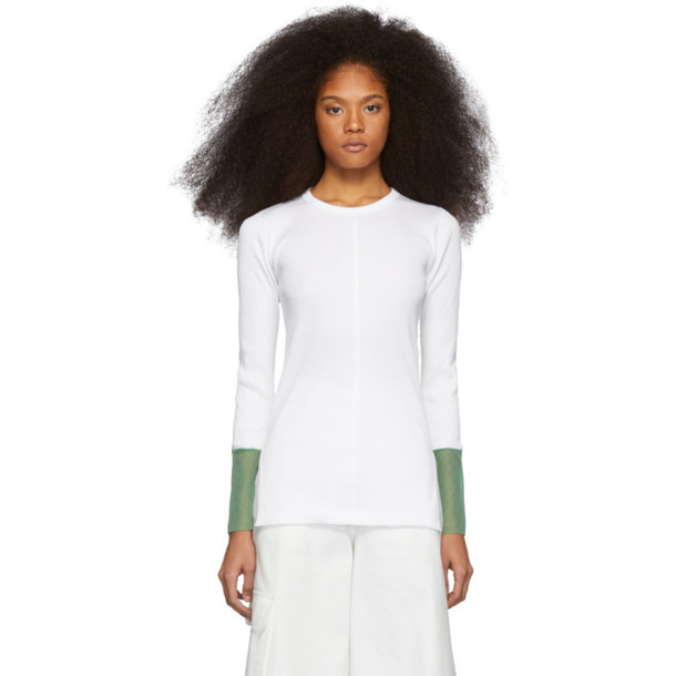 Toga White Tereko Long Sleeve T-Shirt