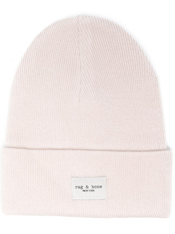 Rag & Bone Addison ribbed-knit beanie in neutrals