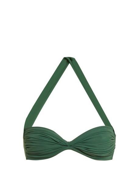 Norma Kamali - Bill Bra Bikini Top - Womens - Green