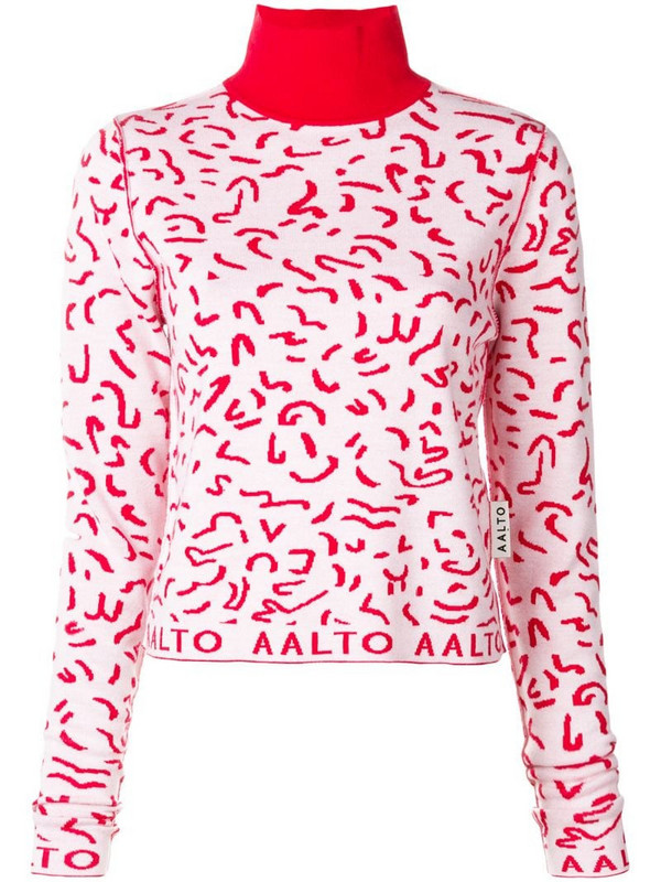 Aalto turtle neck sweater in red
