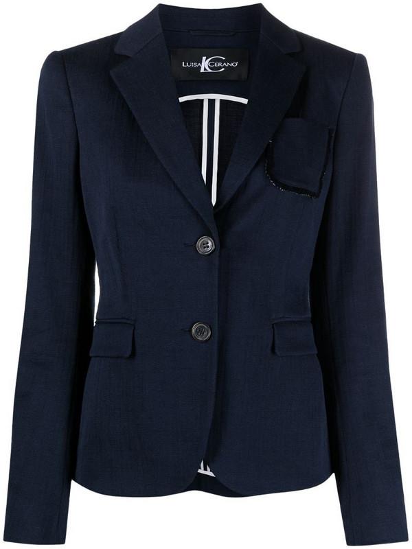 Luisa Cerano chest-pocket single-breasted blazer in blue