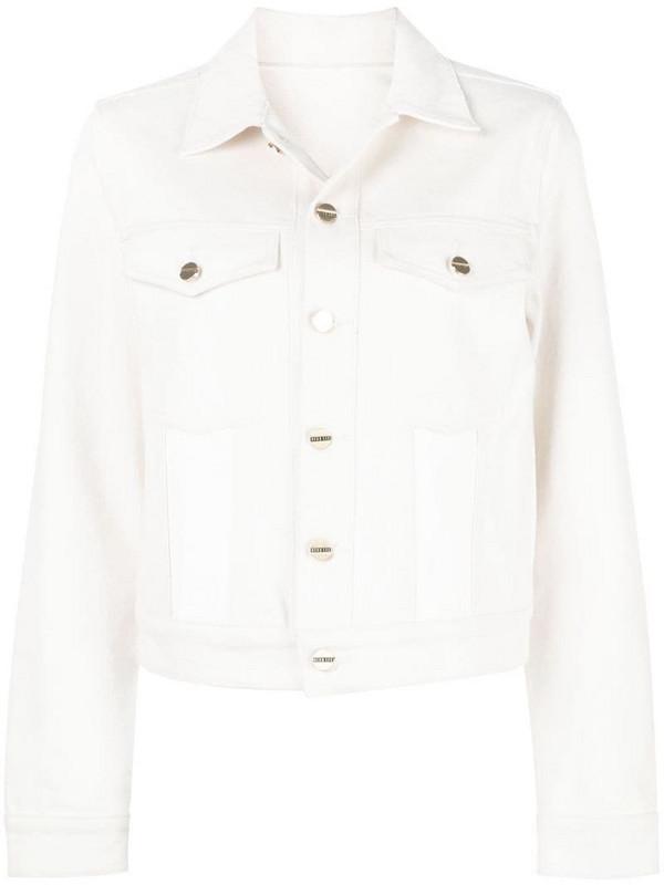 Dion Lee panelled denim jacket in white