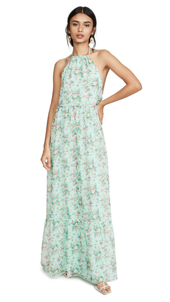 Eywasouls Malibu Ayla Dress in blue / print