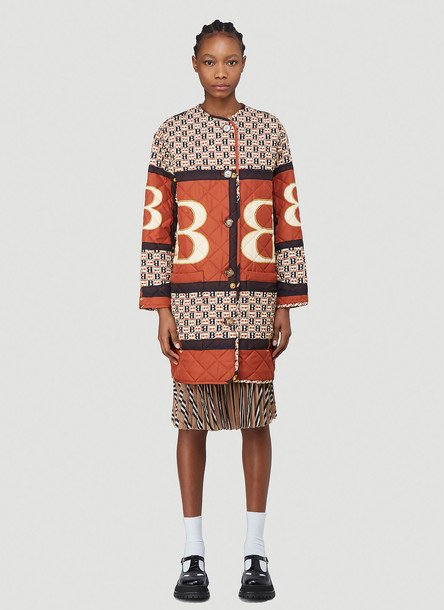 Burberry Bardsey Coat in Orange size S