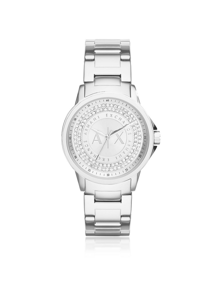 Armani Collezioni Armani Exchange Lady Banks Stainless Steel Women's Watch in silver