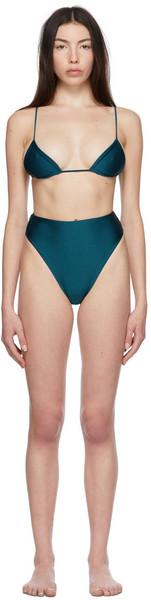 Jade Swim Blue Via & Incline Bikini in teal