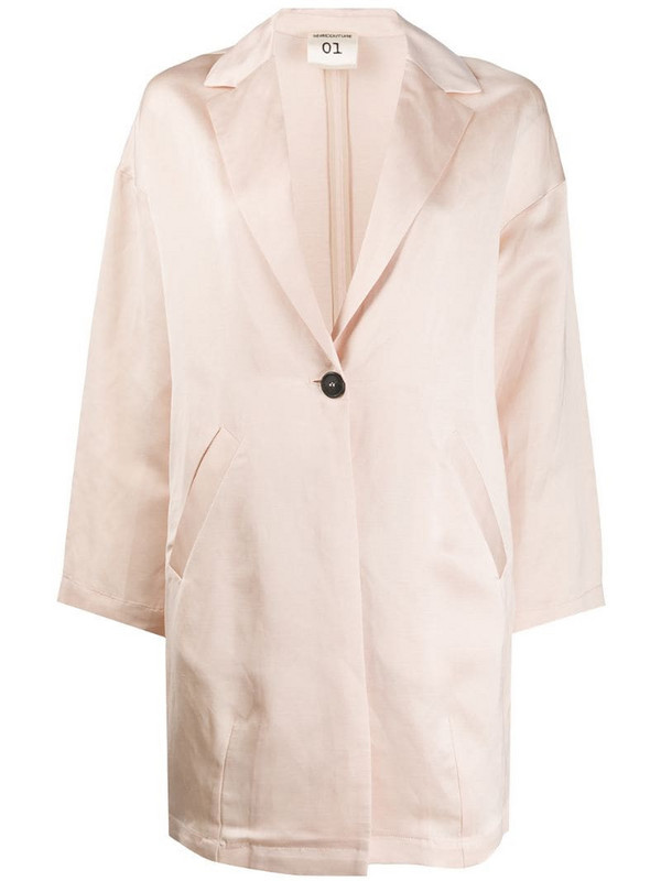 Semicouture oversized single-breasted blazer in neutrals