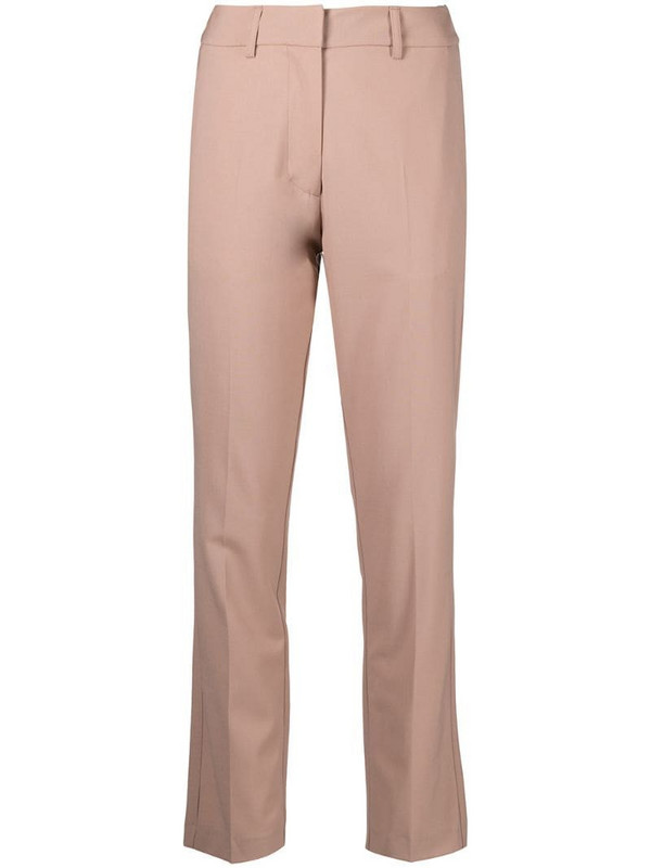 Alysi straight-leg trousers in neutrals