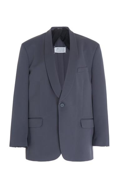 Maison Margiela Crepe Tuxedo Blazer in grey
