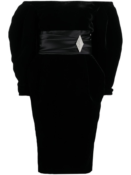 Alexandre Vauthier fitted waist dress in black