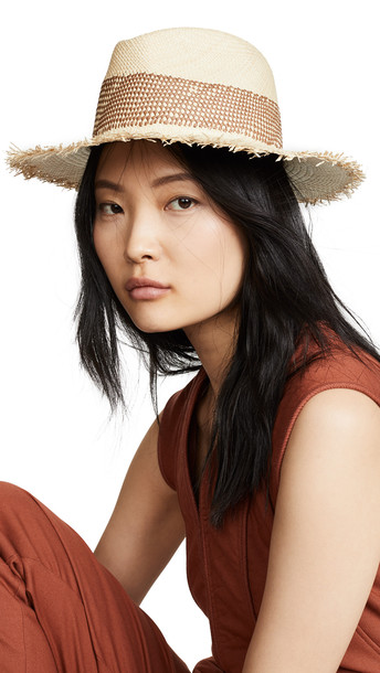 Rag & Bone Frayed Edge Panana Hat in natural / multi