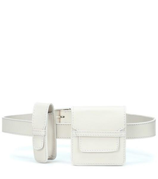Gabriela Hearst Leather belt bag in white
