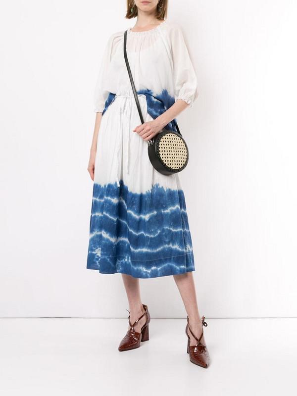 Karen Walker Horizon tie dye skirt in blue