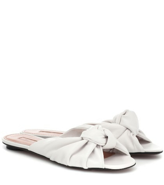 Samuele Failli Betsy leather slippers in white
