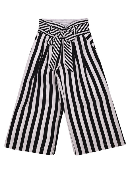 Monnalisa Monnalisa Striped Trousers in black / white