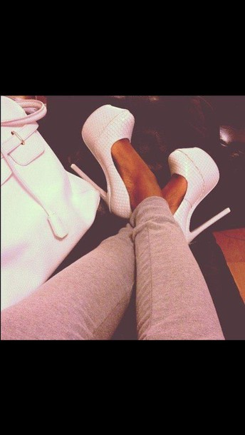 shoes white heels
