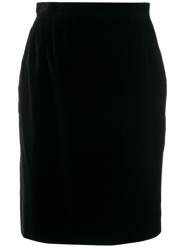 Yves Saint Laurent Pre-Owned straight short skirt in black