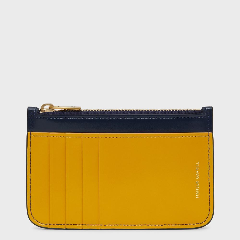 Mansur Gavriel Zip Card Holder - Golden Yellow Multi