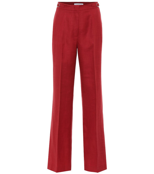 Gabriela Hearst Exclusive to Mytheresa – Vesta high-rise wool-blend pants in red