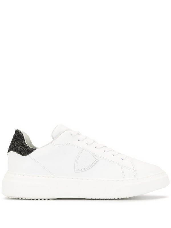 Philippe Model Paris glitter-embellished sneakers in white