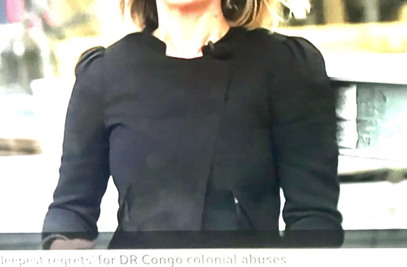 jacket black puff sleeves laura kuenssberg