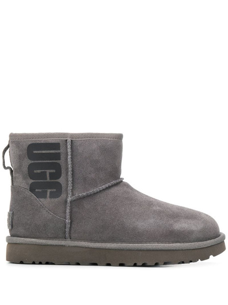 UGG logo print mini boots in grey