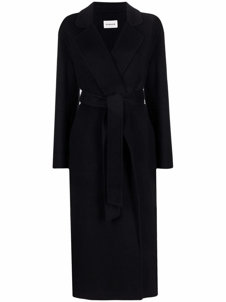 P.A.R.O.S.H. P.A.R.O.S.H. tied-waist coat - Black
