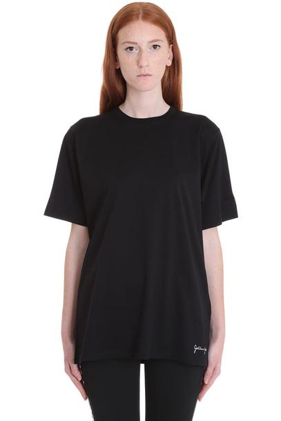 Golden Goose Hoshi T-shirt In Black Cotton