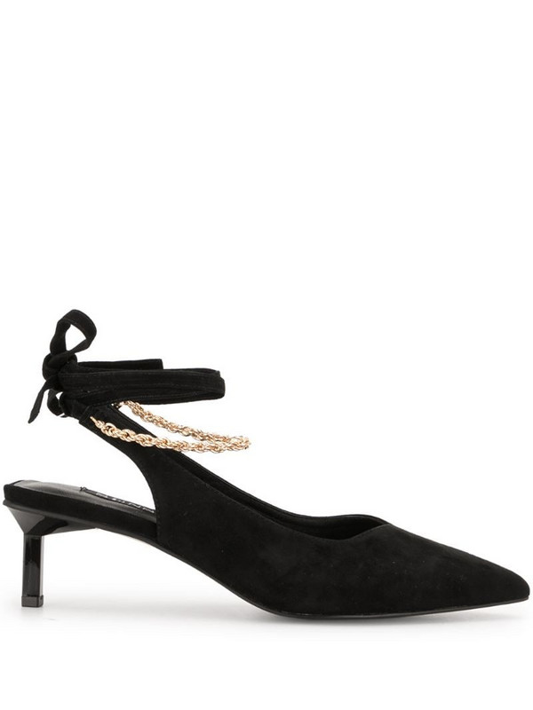 Senso slingback pointed pumpes in black