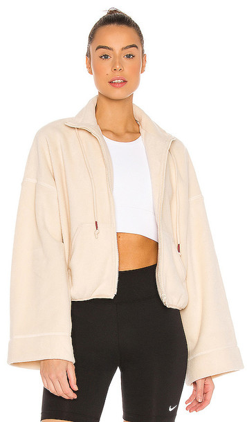 Free People X FP Movement Climb High Fleece Sweater in Cream