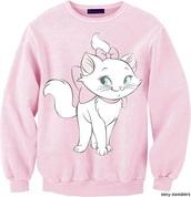 sweater,pink,disney