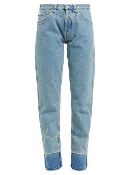 Loewe - Faded Wash Denim Jeans - Womens - Denim