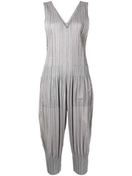 Pleats Please Issey Miyake sleeveless pleated jumpsuit in grey