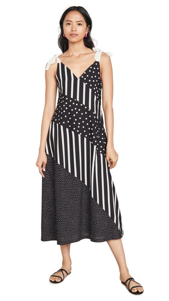 Solid & Striped Bias Dress in black