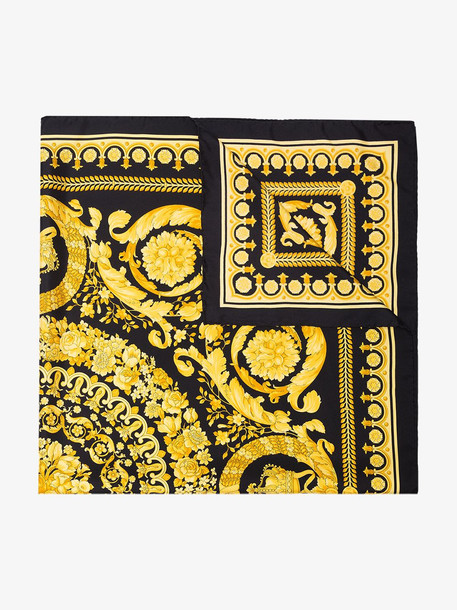 Versace Silk Foulard Signature Scarf in black