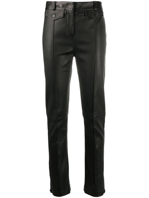 Tom Ford leather skinny-leg jeans in brown