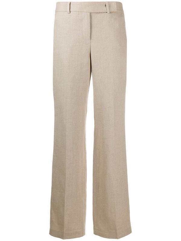 Michael Michael Kors straight-leg linen trousers in neutrals
