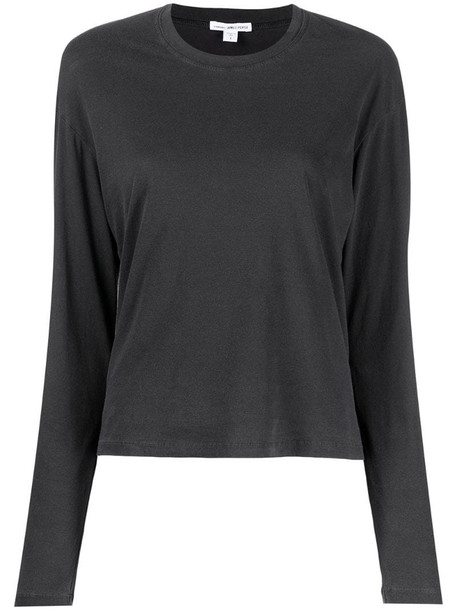 James Perse longsleeved cotton top in grey
