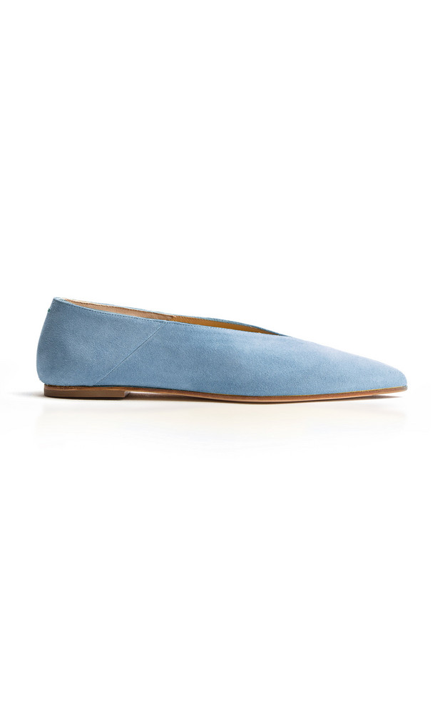 Aeyde Moa Suede Flats in blue