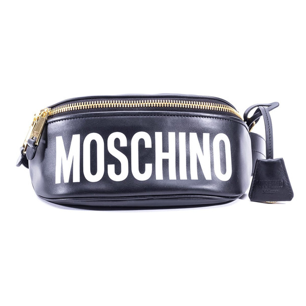 Moschino Leather Belt Pack in black