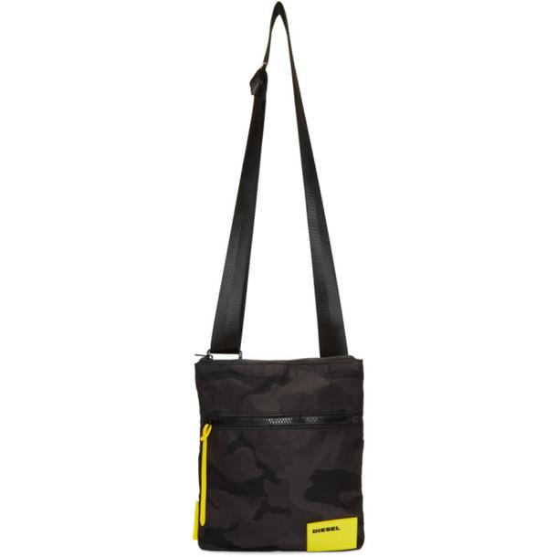 Diesel Black F-Discovery Messenger Bag