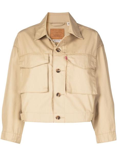 Levi's cropped denim jacket in neutrals