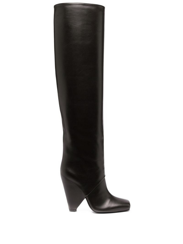 Balmain square-toe boots in brown