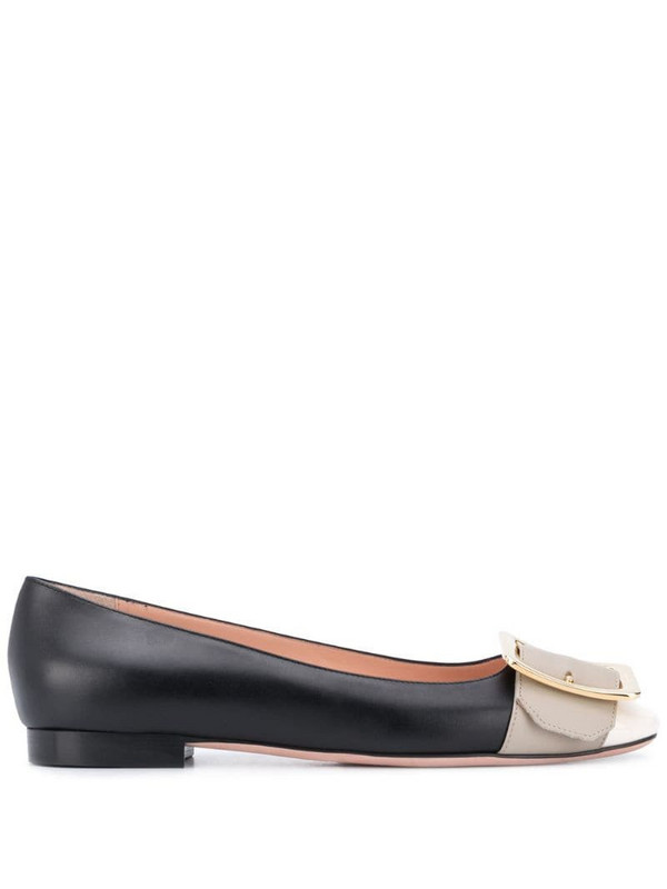 Bally Jackie buckle-detail ballerina shoes in black