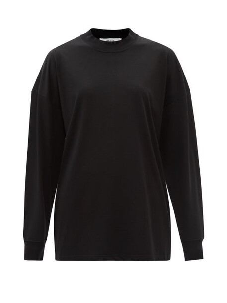 The Row - Dolonas Cotton-jersey Long-sleeved T-shirt - Womens - Black