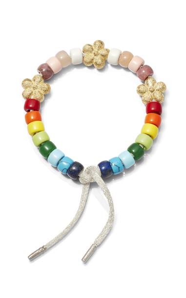 Carolina Bucci 18K Gold Fiore Rainbow FORTE Beads Bracelet in multi