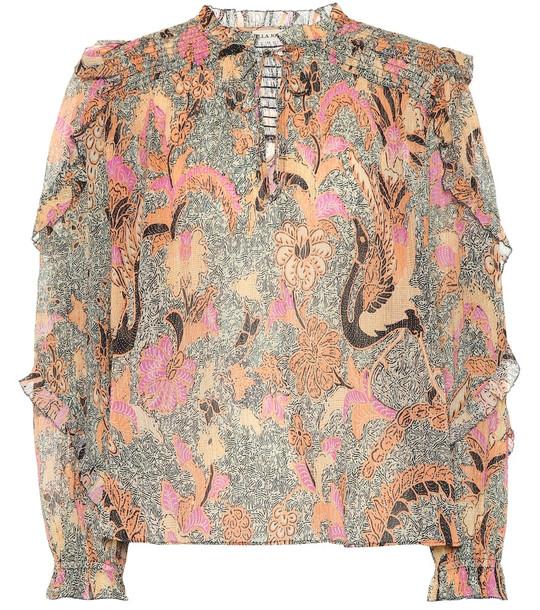 Ulla Johnson Lara cotton and silk-blend blouse