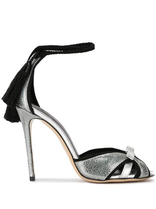 Aleksander Siradekian Donna tassel sandals in silver