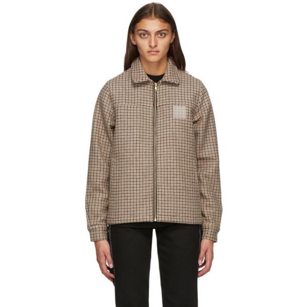 Noon Goons Brown Houndstooth Club Jacket