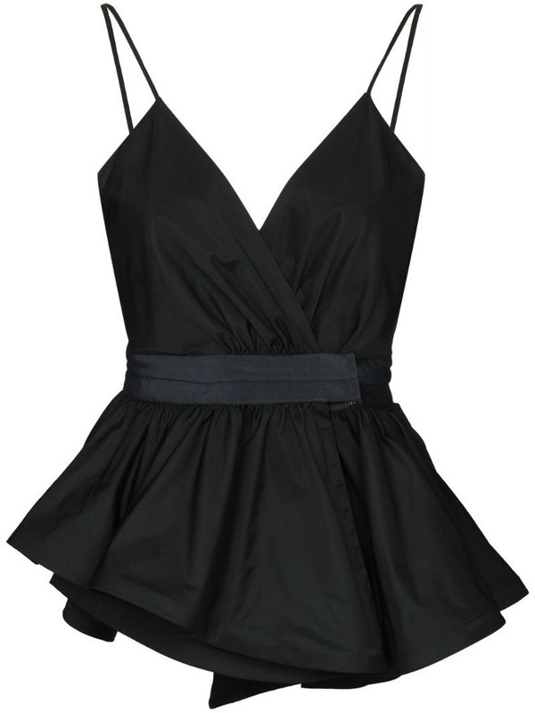 Silvia Tcherassi Leila peplum-hem sleeveless top in black